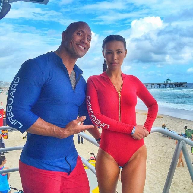 Baywatch Movie 2017 - Dwayne Johnson The Rock - Ilfenesh Hadera