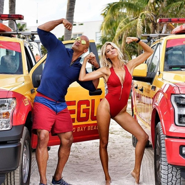 Baywatch Movie 2017 - Dwayne Johnson The Rock - Kelly Rohrbach