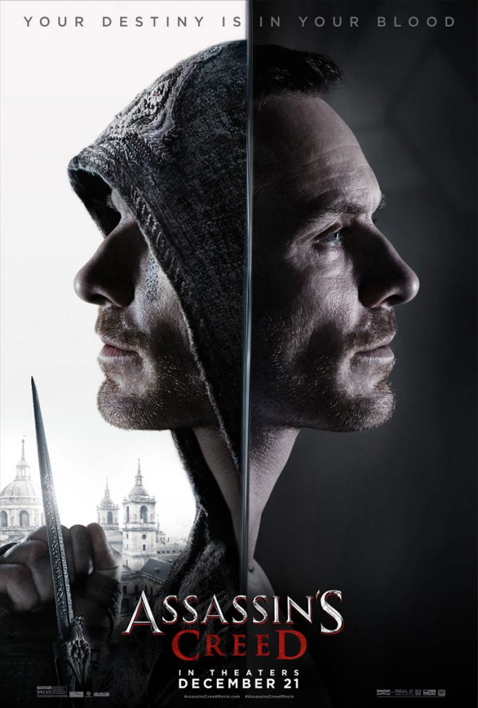 Assassins Creed Movie Poster 2016 - Michael Fassbender